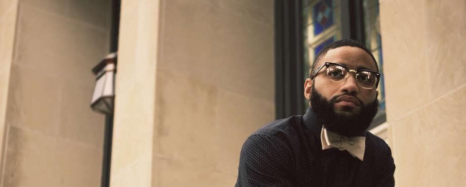 black man beard bow tie