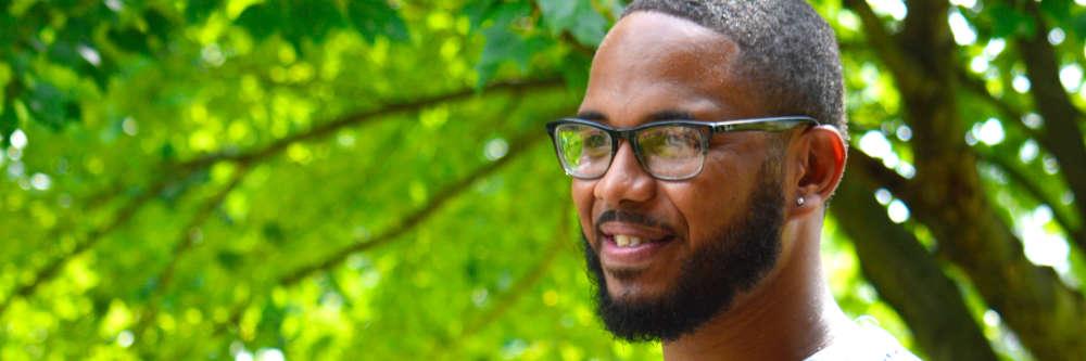 black man groomed beard