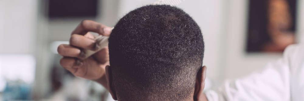 black man haircut