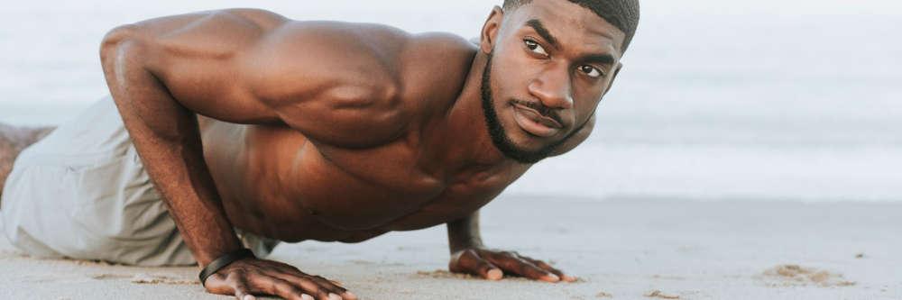 black man push ups