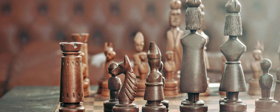 brown chess set
